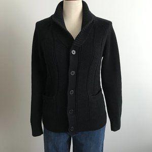 H&M Black Long Knit Button Up Cardigan